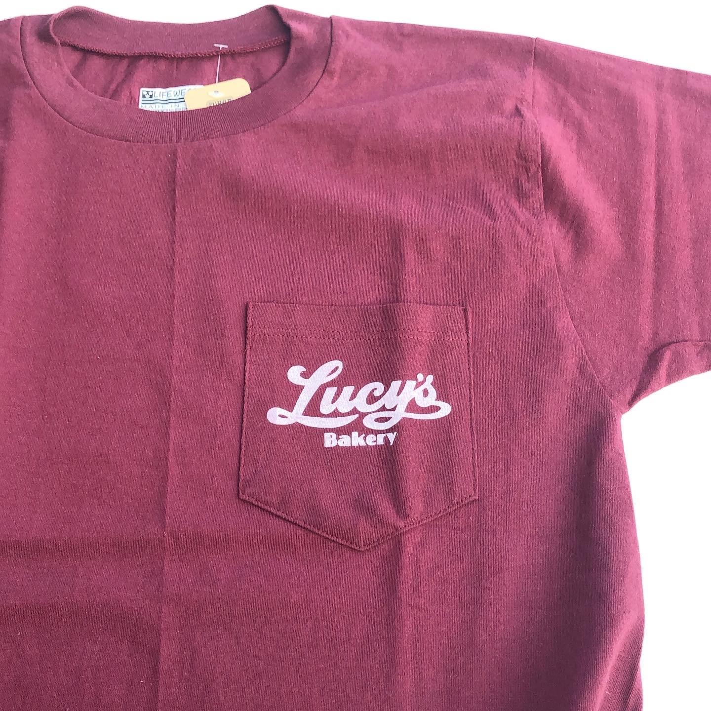 "Lucy's Bakery ""Classic Logo"" Pk Tee ルーシーズベーカリー""クラシックロゴ""ポケットTシャツ"