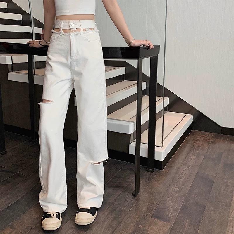 waist cut design pants