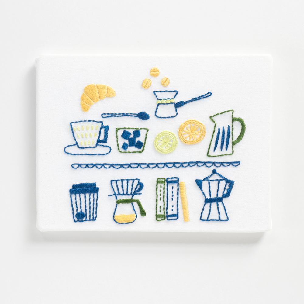 『カフェ』刺繍パネルキット