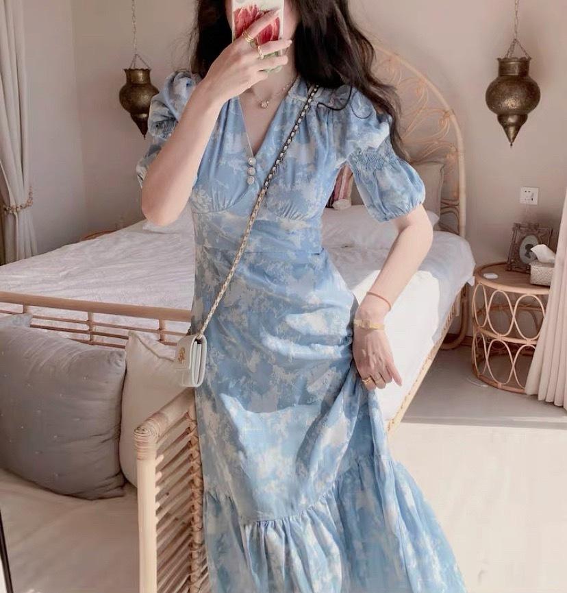 chic flower dress 2color