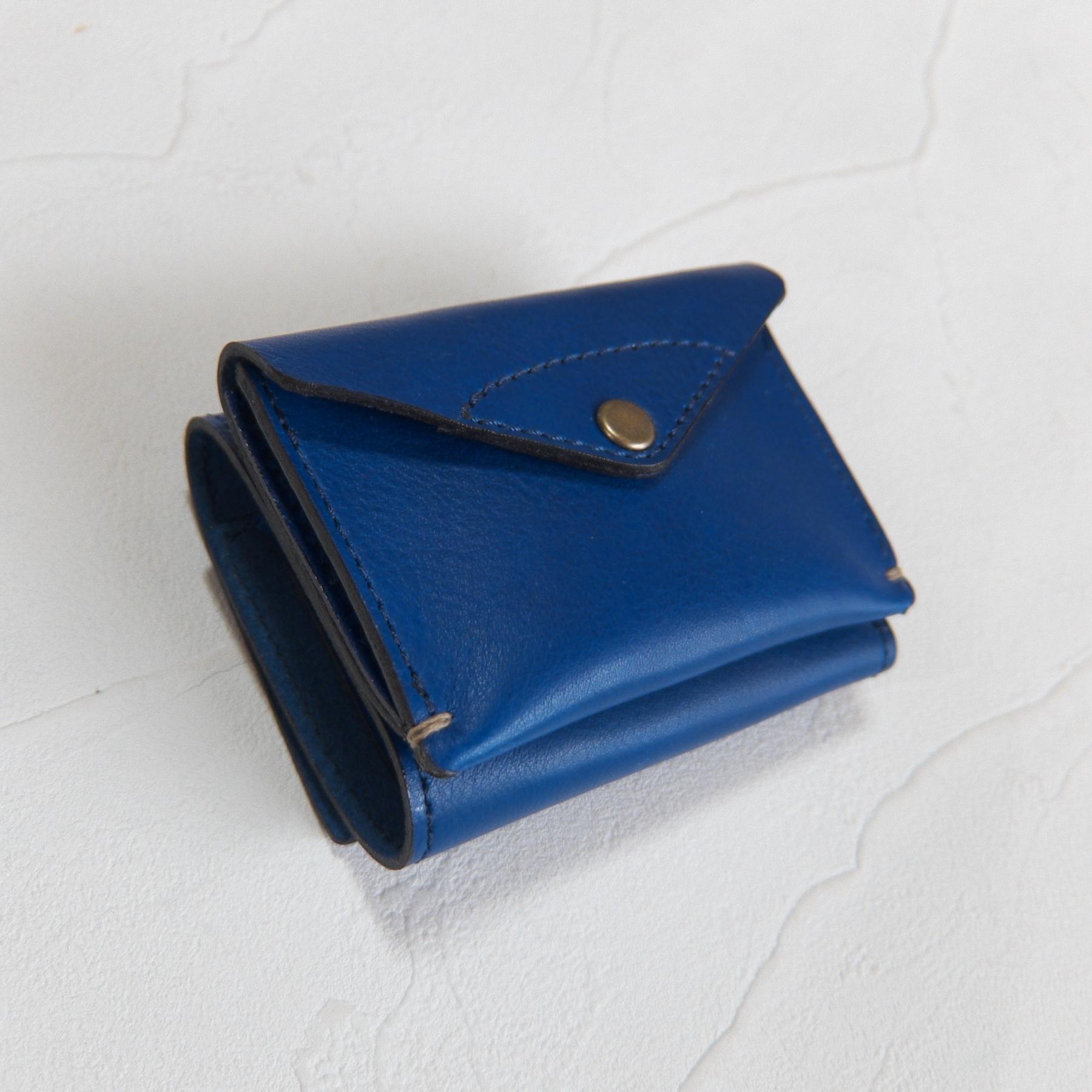 【受注生産】3つ折り財布 Blue(納期約3週間)