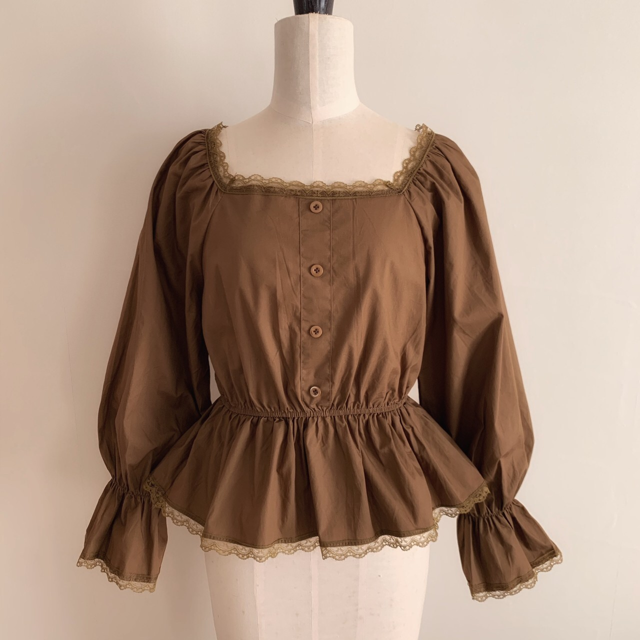 【meltie】coconut brown girly blouse