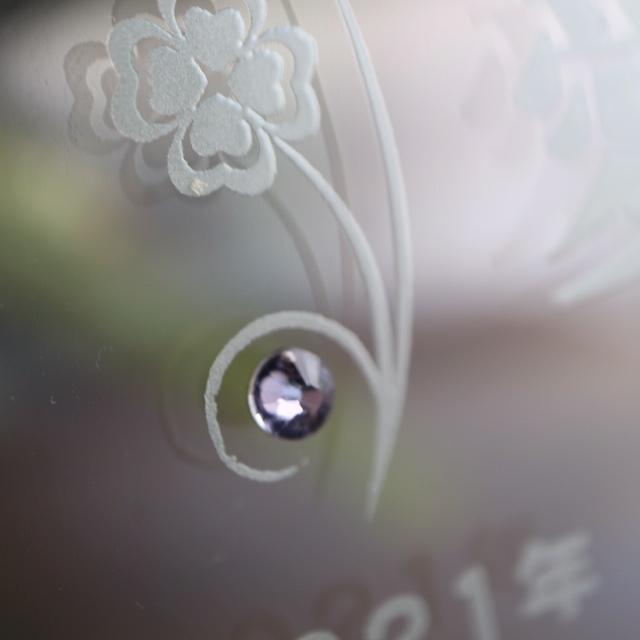 3個セット 赤ちゃん 手形 ガラス フォトフレーム 誕生月 スワロフスキー ラインストーン 誕生日 出産祝い 送料無料