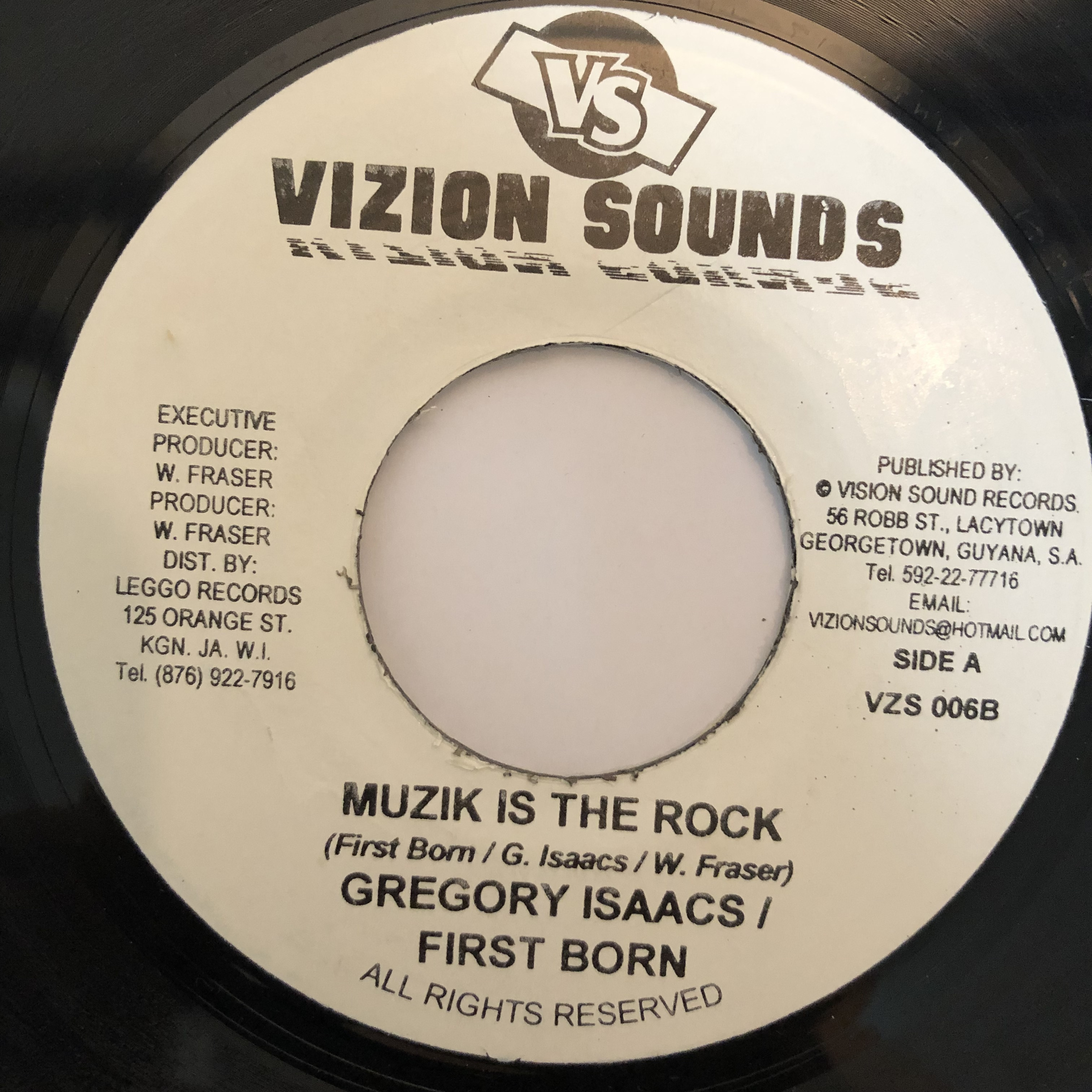 Gregory Isaacs, First Born ‎- Muzik Is The Rock【7-20270】