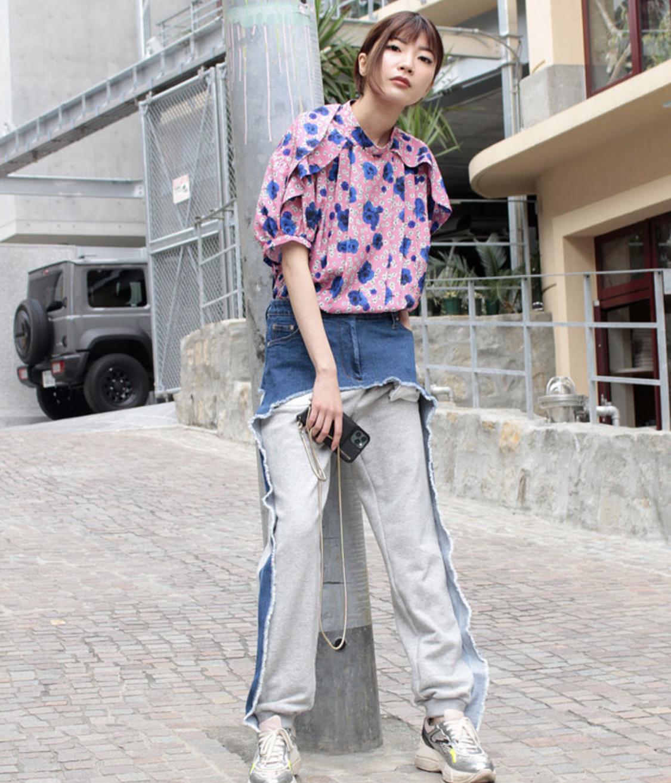 FLUMOR  Denim ×Sweat pants