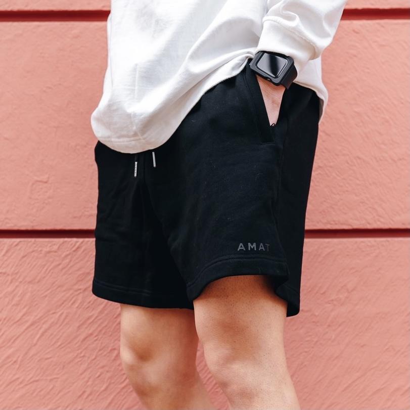 """FLEX"" Wide Shorts (Black)"