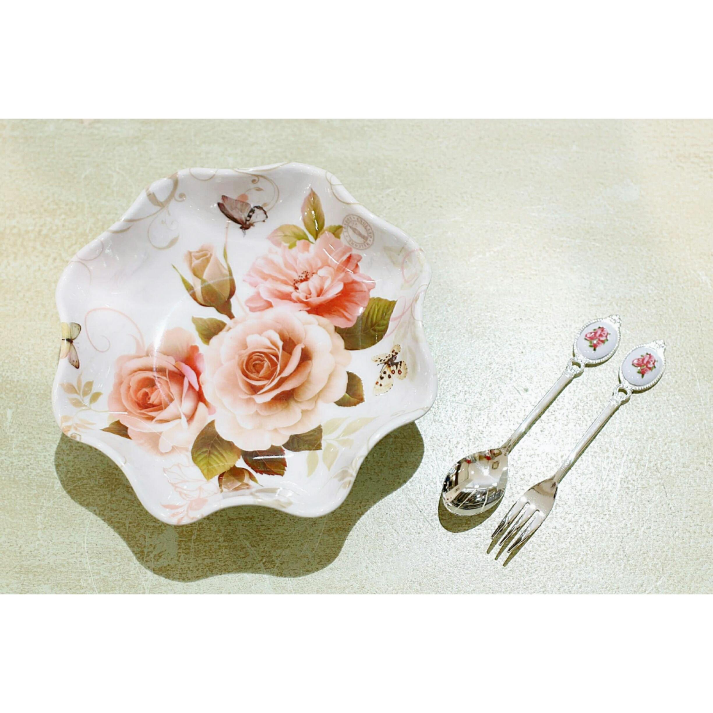ラウンドディッシュトレー02/サラダボウル/バラ雑貨/浜松雑貨屋 C0pernicus