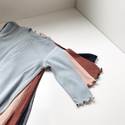 【ベビー服】綿シルクテレコ カバーオール / トワイライトブルー / 80サイズ