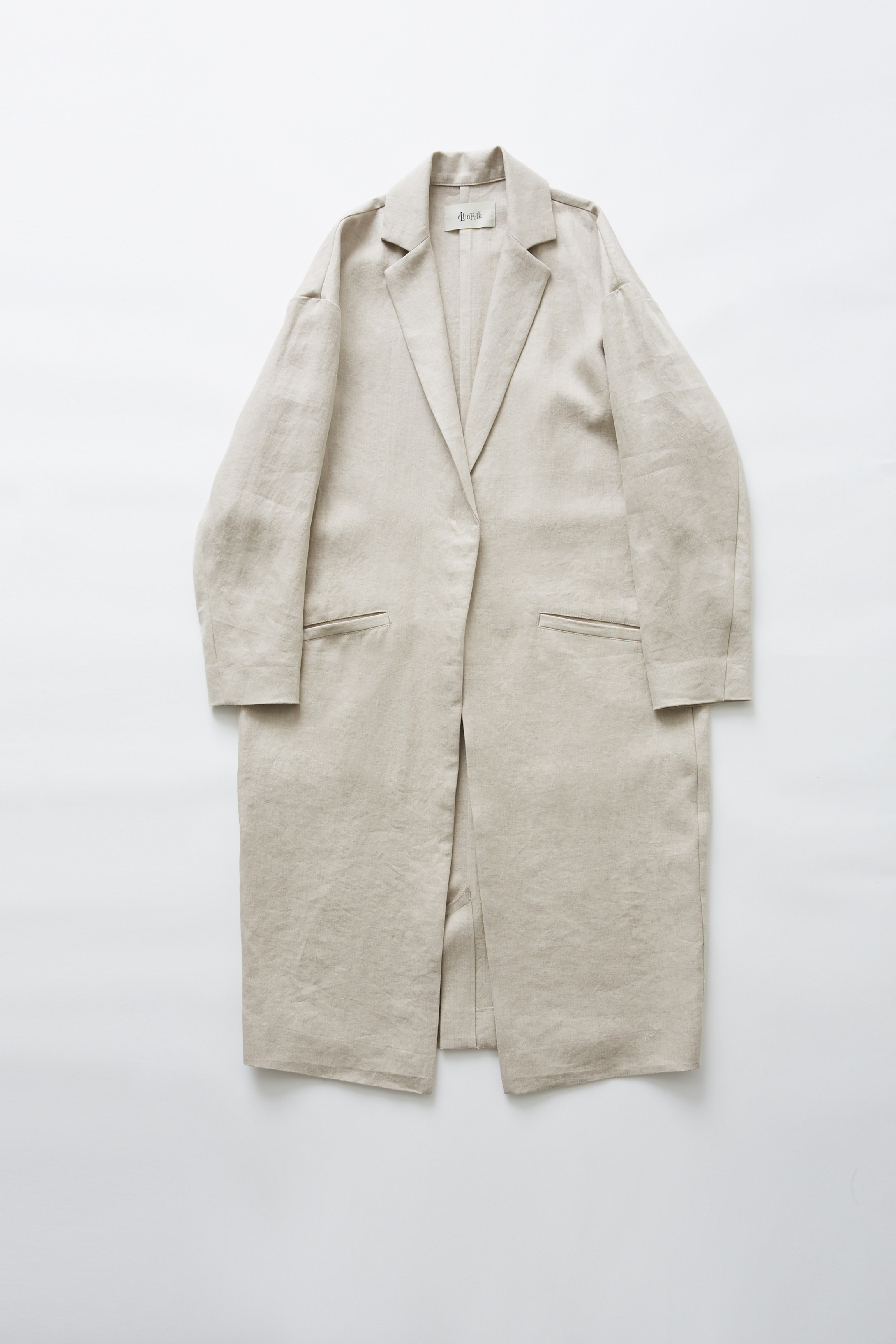 《eLfinFolk 2019SS》herringbone linen long coat / off white / F(大人)