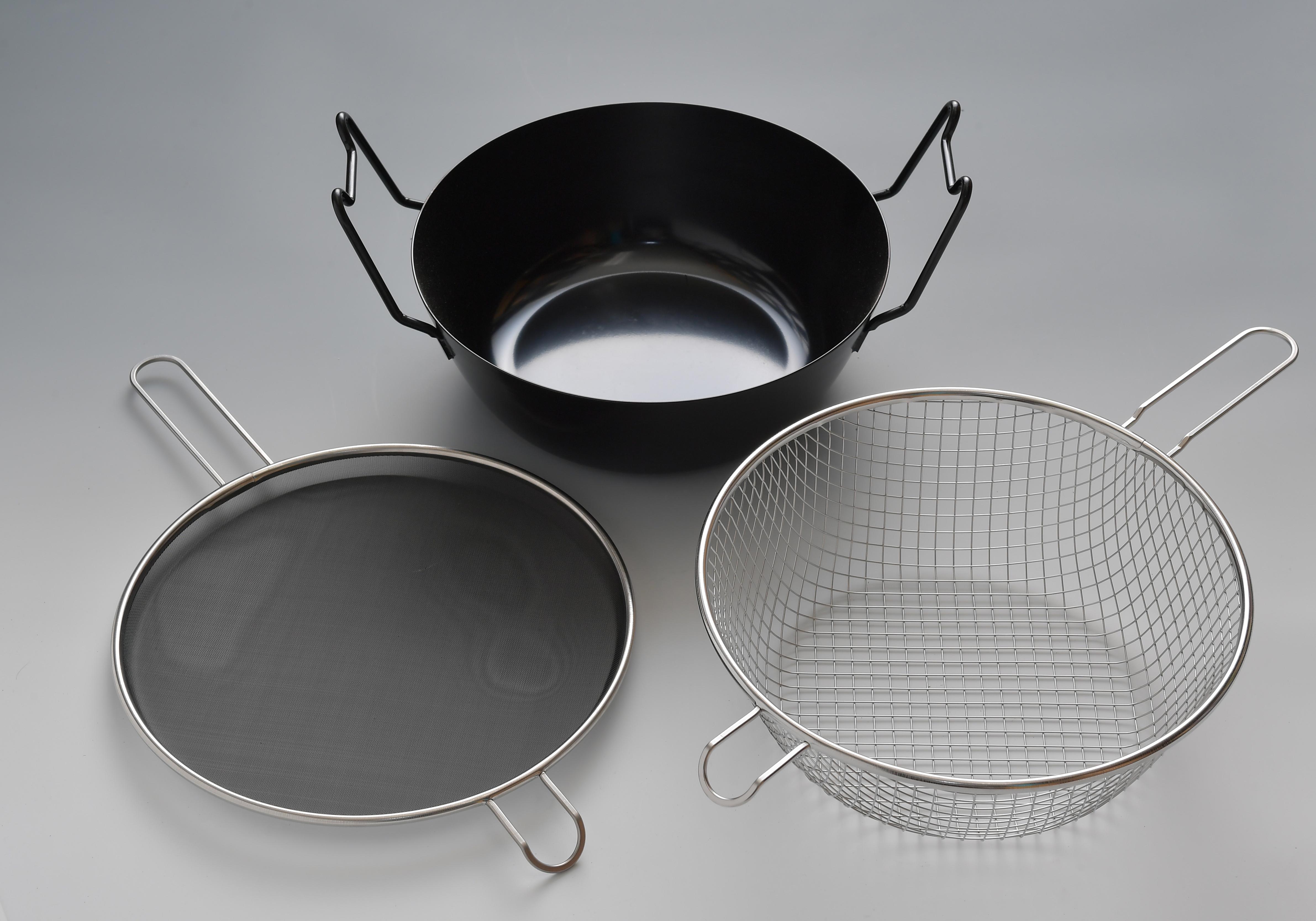 ラバーゼ 鉄揚げ鍋セット 22cm