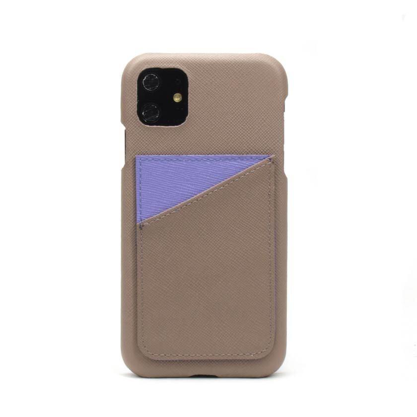 背面カード【グレージュ×スミレパープル】 iPhone / Galaxy / Xperia /  Googlepixel / Huawei