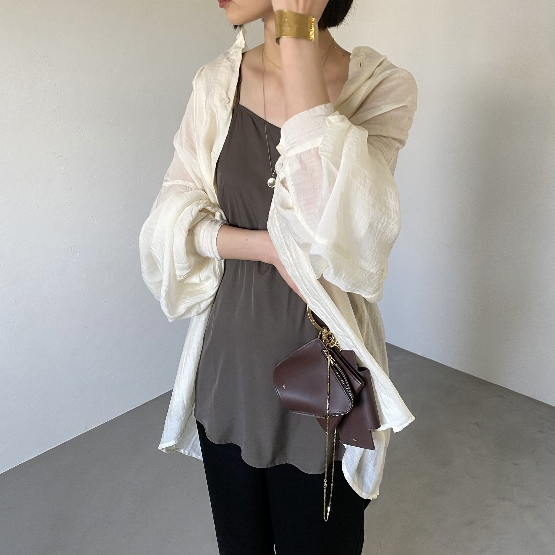 asymmetry camisole/chocolate