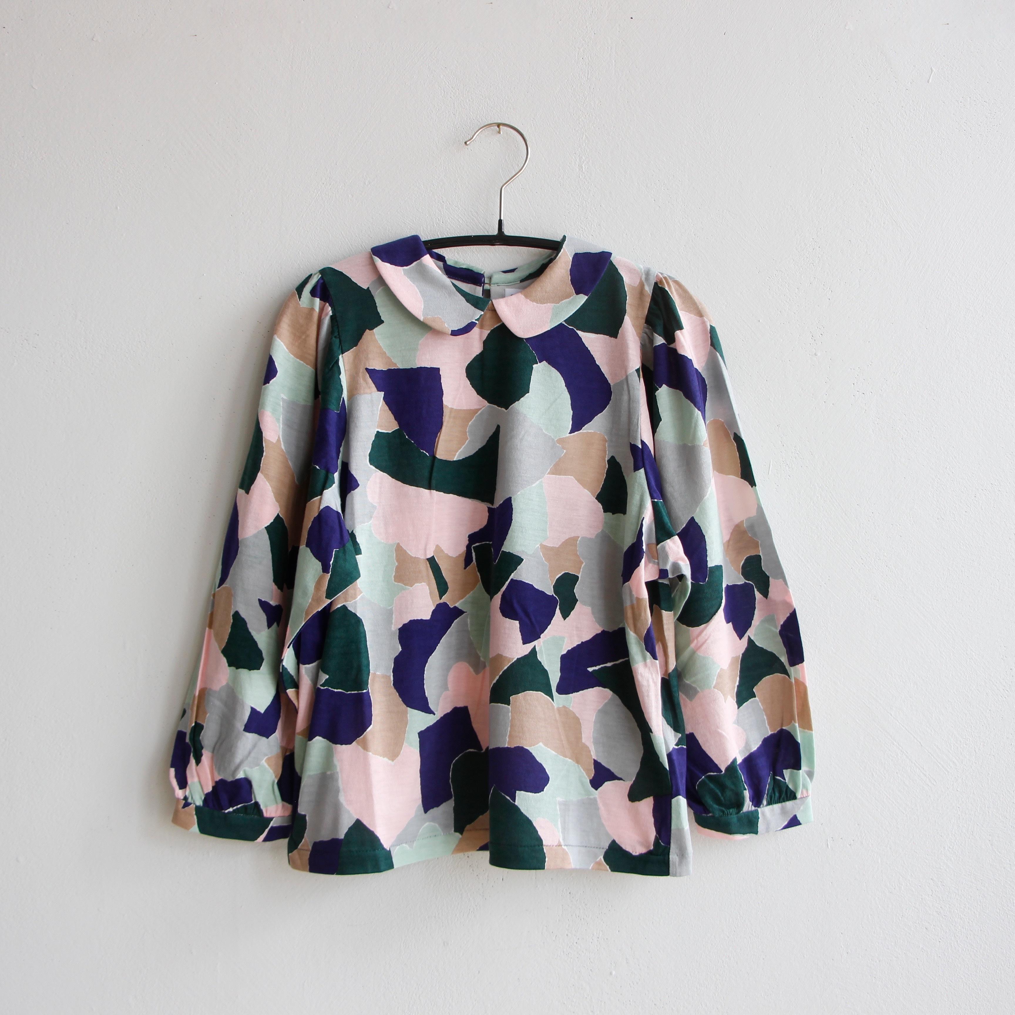 《mina perhonen 2020AW》foliage 長袖カットソー / pink mix / 110-140cm