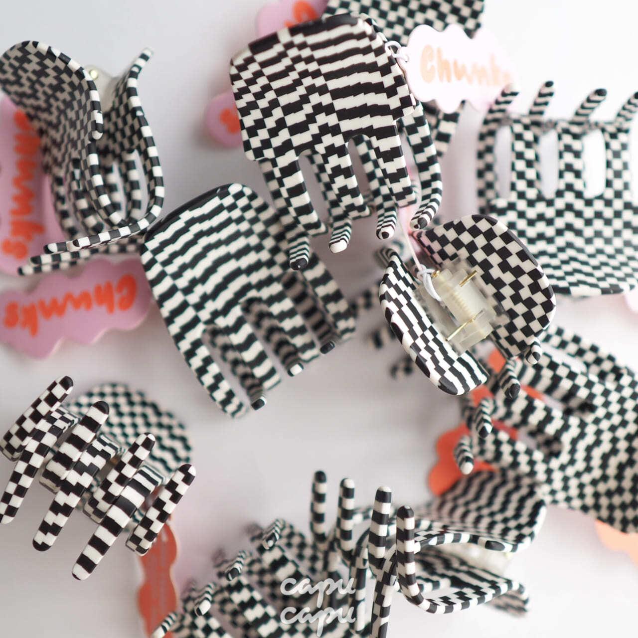 «即納» Chunks Jumbo Claw Black / White チャンクス バンスクリップ・ヘアピン