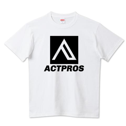 【KID'S】ACTPROS スクエアロゴ(BOX B-TYPE) 5.6ハイクオリティーTシャツ(United Athle)ホワイト【9colors】