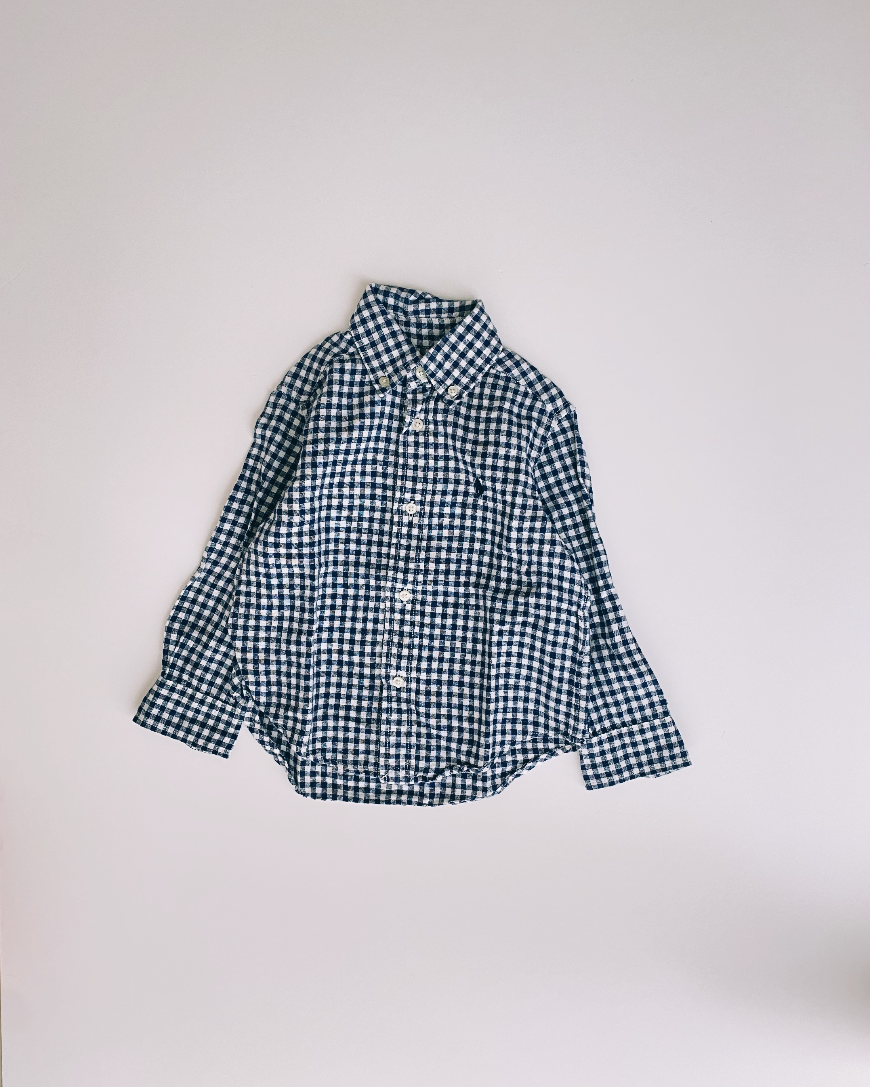 (KD013)95cm Ralph Lauren boxcheck BD shirt
