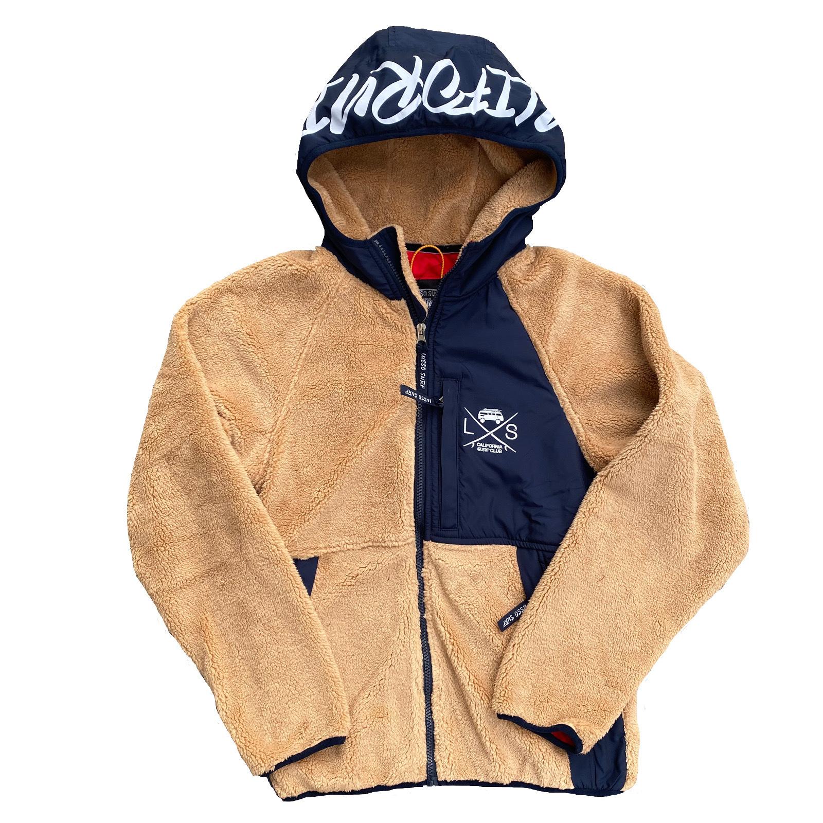 SURF BUS Fleece Jacket 【Brown × Navy】