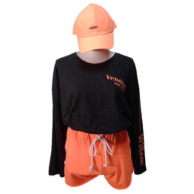 ネオンカラーセットアップ オレンジ  帽子付き☆