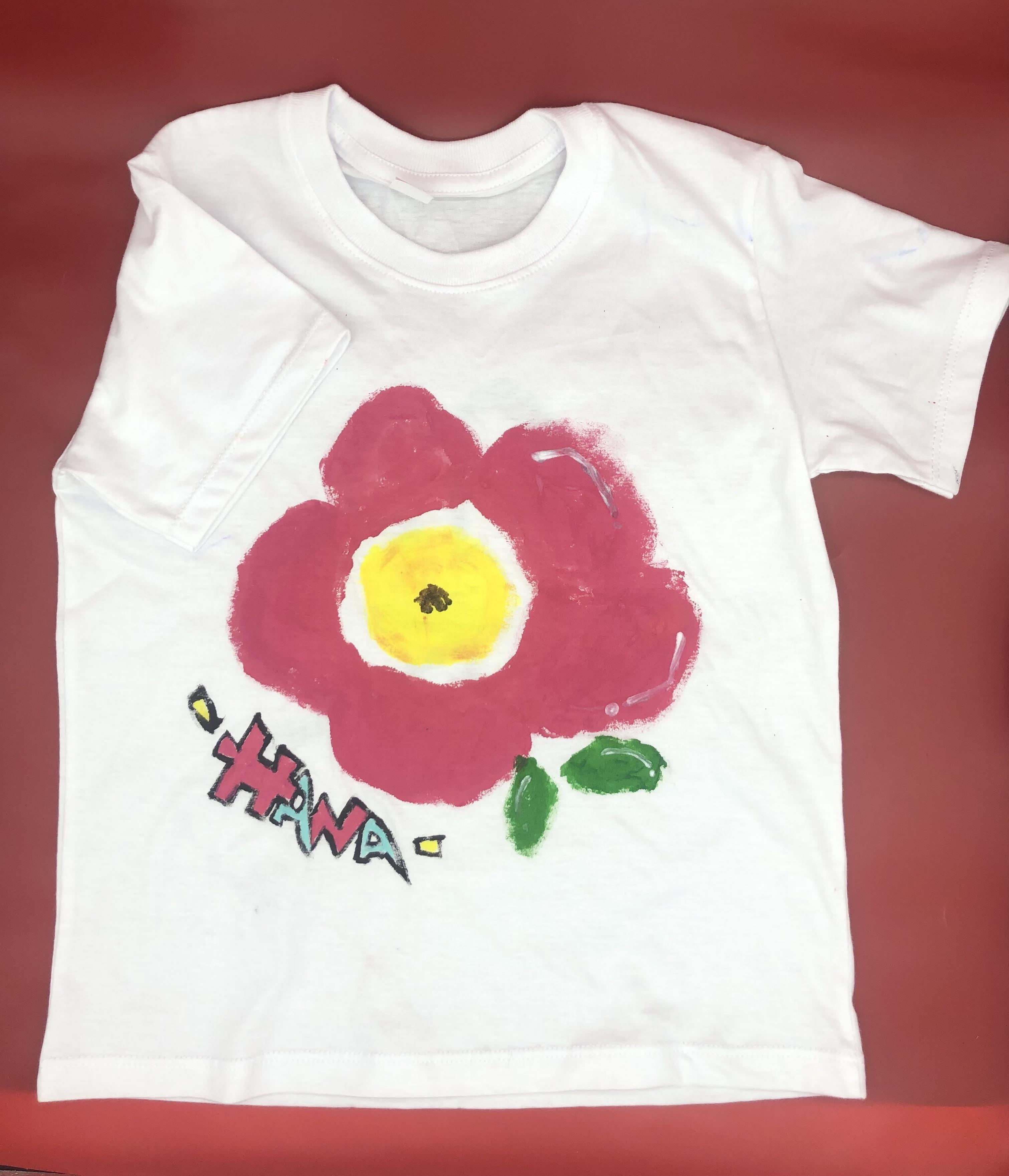 【手描きTシャツ】HANA  ことうた屋  オリジナルTシャツ 出産祝い 誕生日祝い