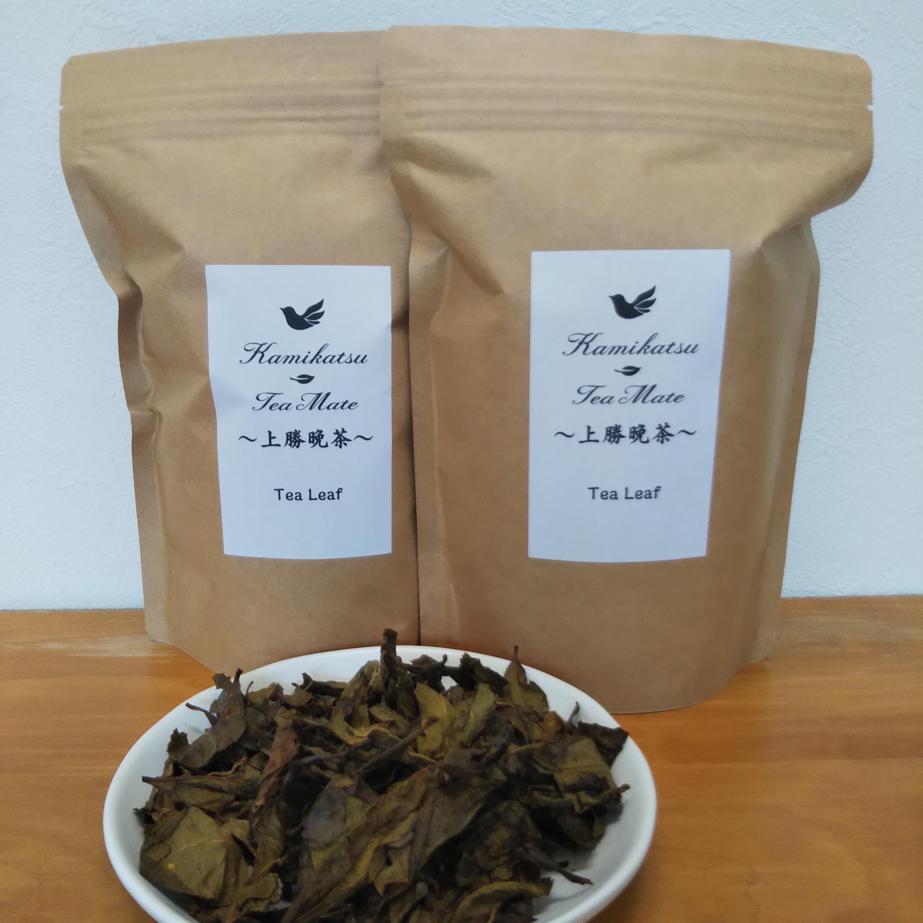 上勝のTea Leaf Creator 百野大地Selectionの上勝阿波晩茶 茶葉50g入り 2セット【自然農法栽培茶葉、農薬や化学肥料を一切使用しておりません】