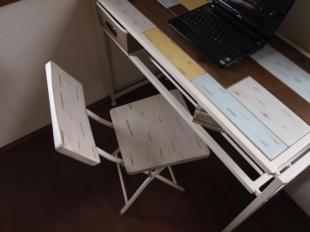 Shabby Chic Folder Chair / シャビーシックスタイル シャビーシック 折り畳みチェア