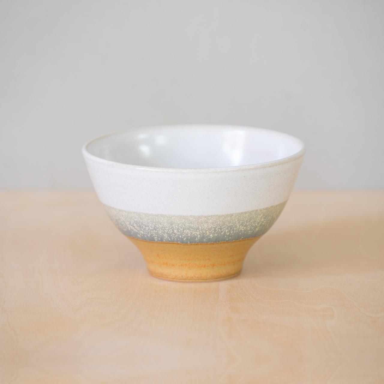 灰釉掛分 茶碗(大)