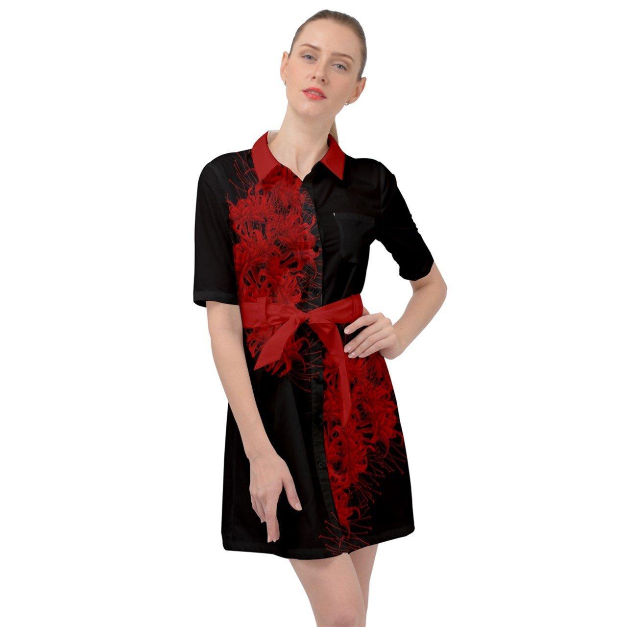 曼殊沙華 ベルテッドシャツドレス