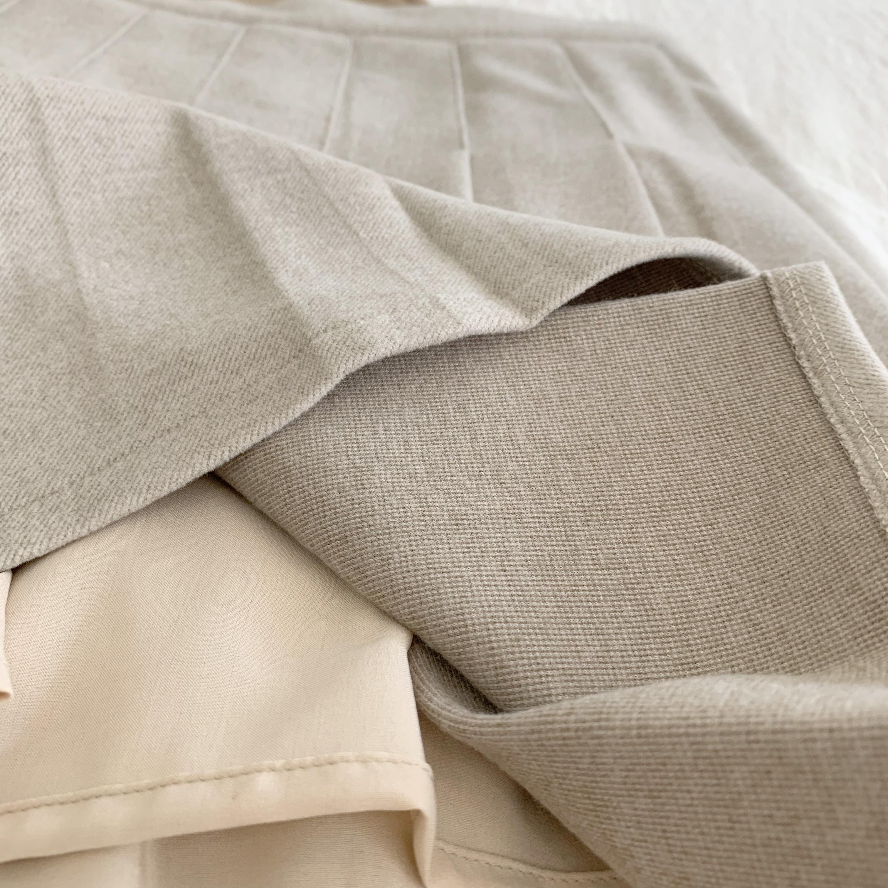 〈カフェシリーズ〉カフェラテプリーツスカート 【dull color flower skirt】