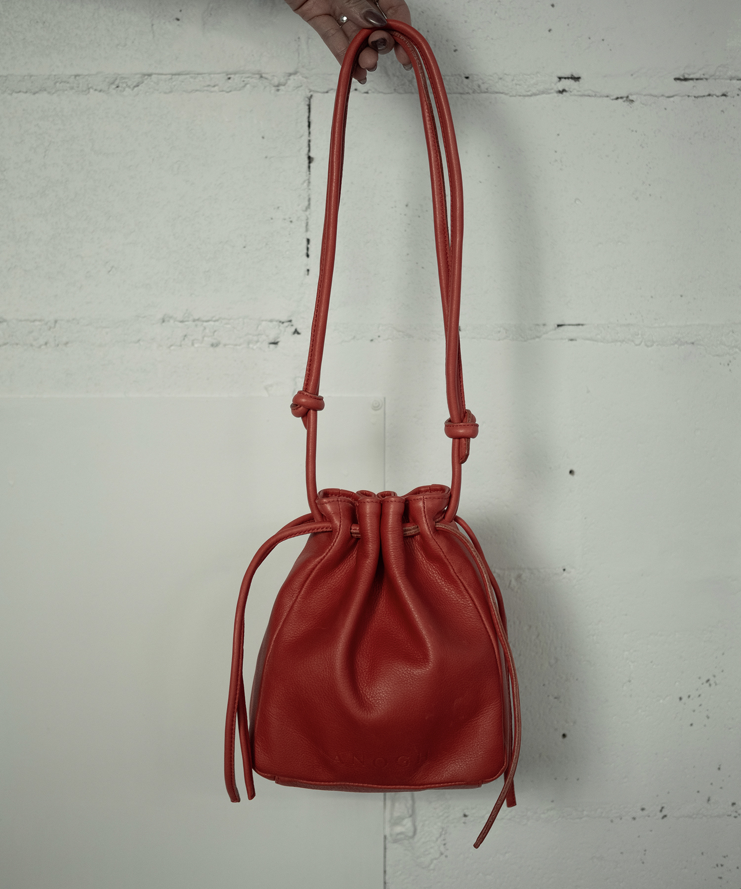 RETHINK LEATHER BAG (RED)