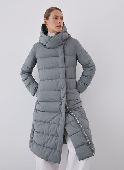 LONG PUFFER COAT WITH SIDE ZIPPER