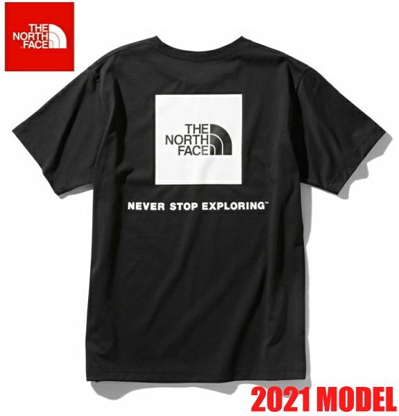 ノースフェイス 半袖 Tシャツ メンズ THE NORTH FACE ショートスリーブバックスクエアーロゴティー 2021年モデル NT32144 ブラック
