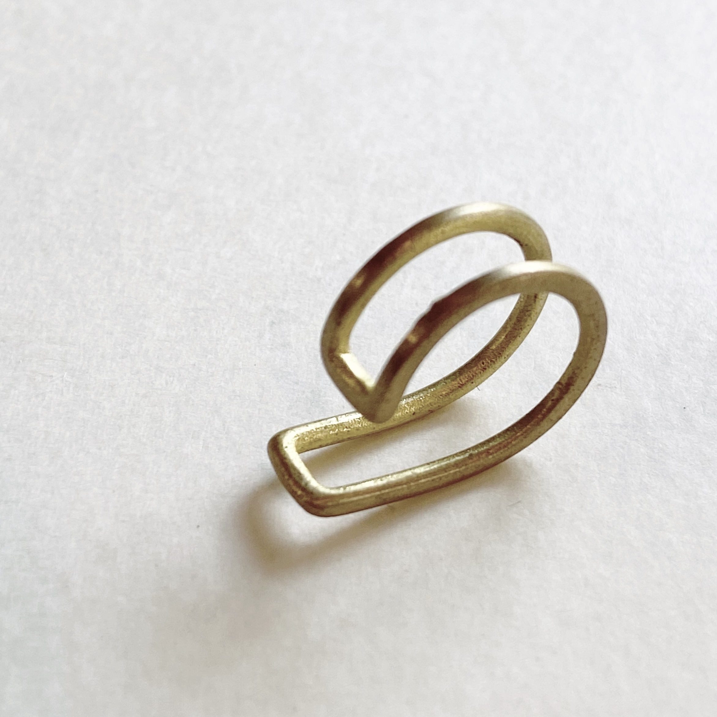 Double brass earcuff B-088