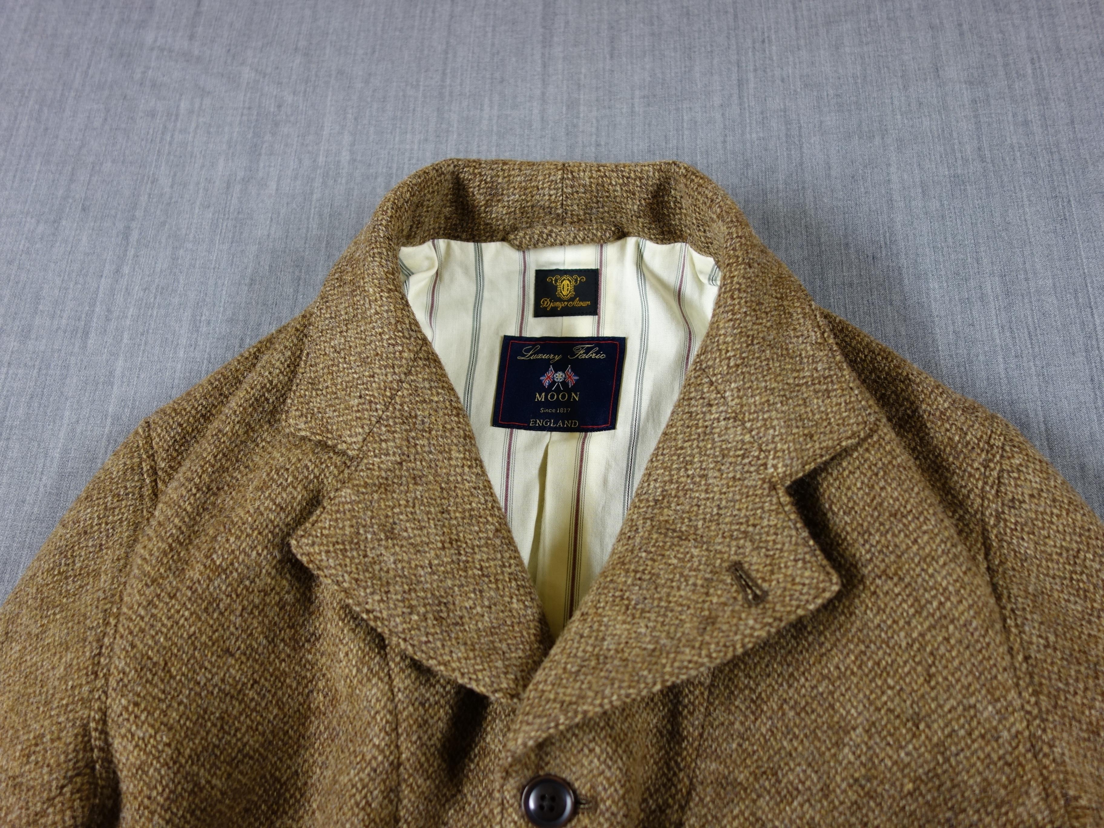 classic shetlandwooltweed tailor jacket / beige