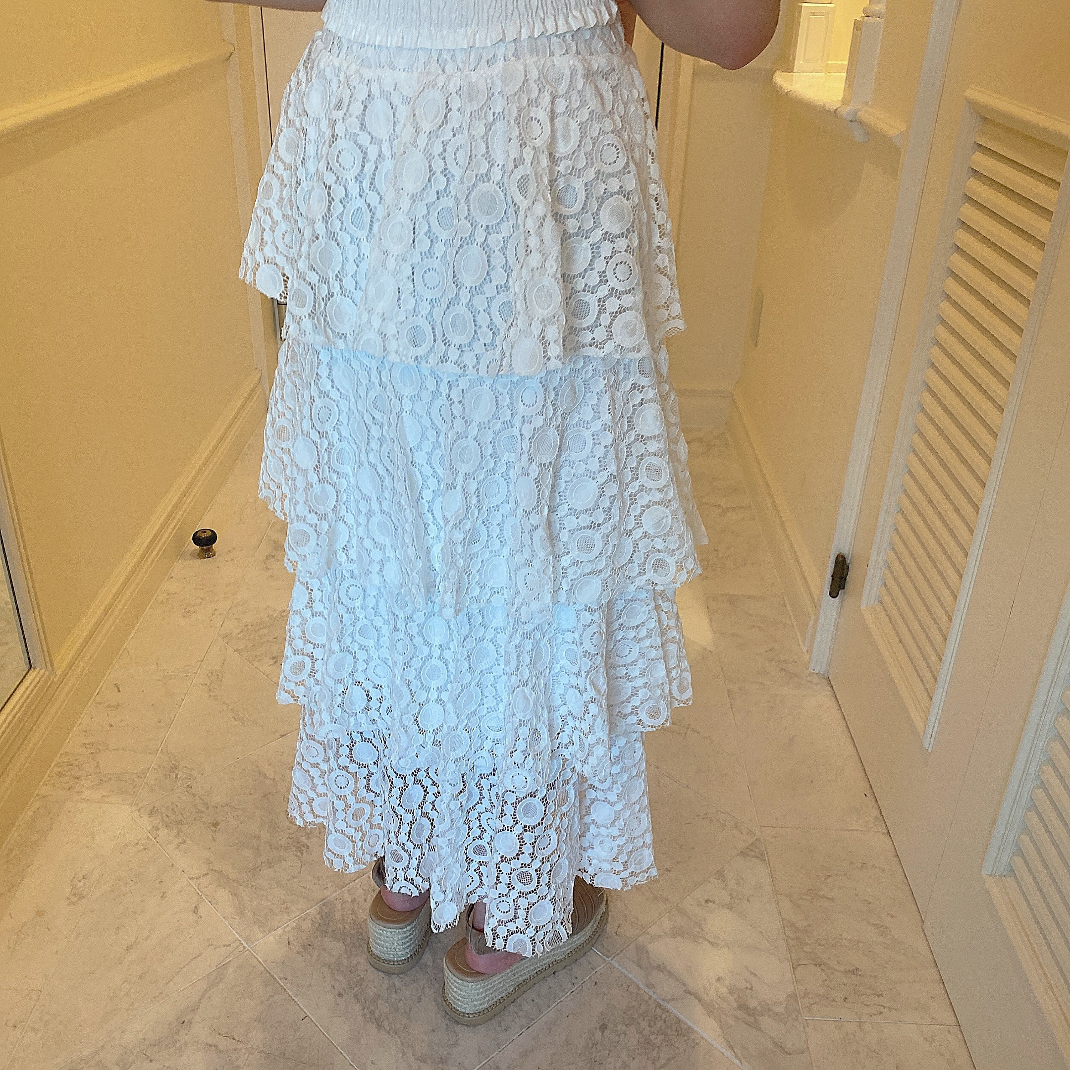 【LAST1】frill lace skirt