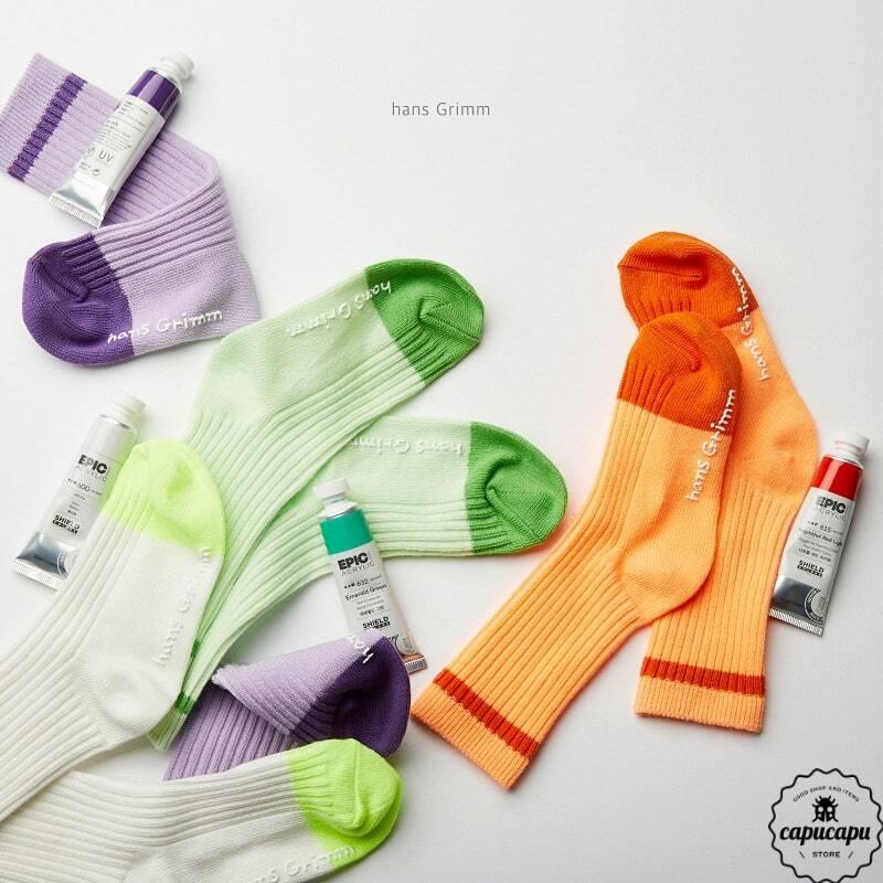 «予約» neon tone socks 4set  ネオントーン ソックス 靴下