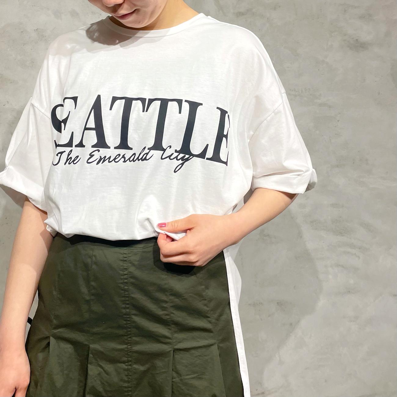 Dignite collier/ディニティコリエ ロゴビックTシャツ TW-802115
