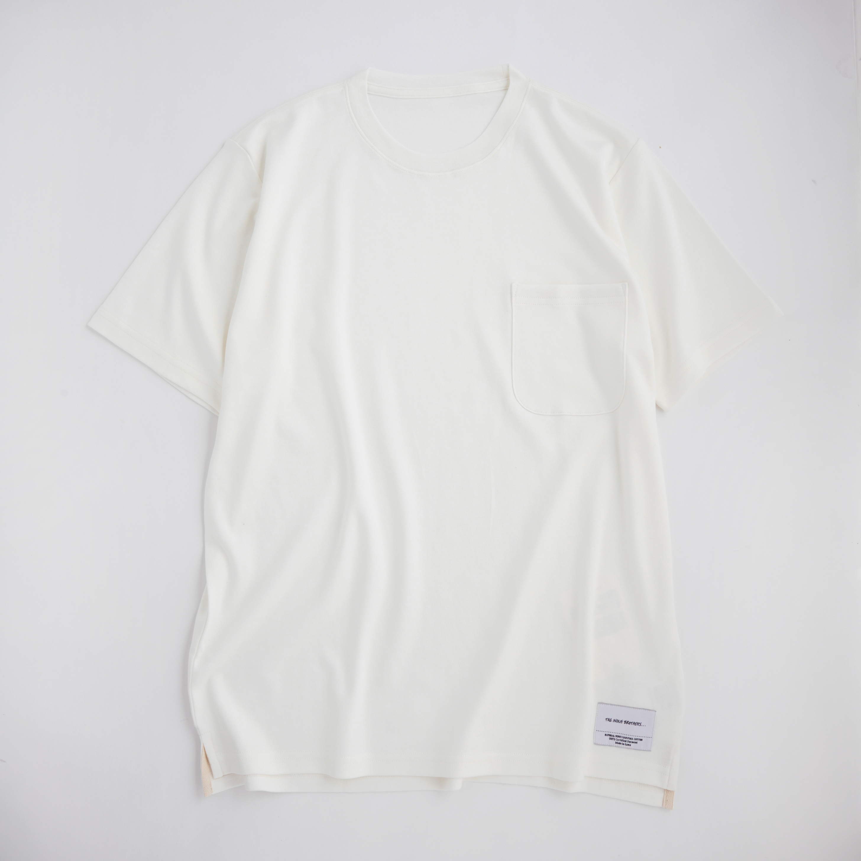 THE INOUE BROTHERS/Standard Pochet T-shirt/White
