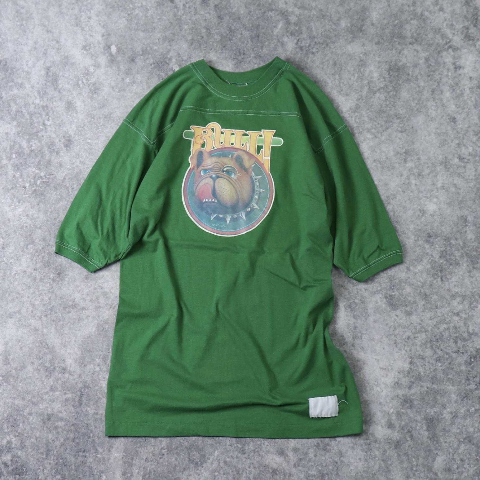 70年代 USA製 CAL CRU    フットボールTシャツ メンズL   古着 A468