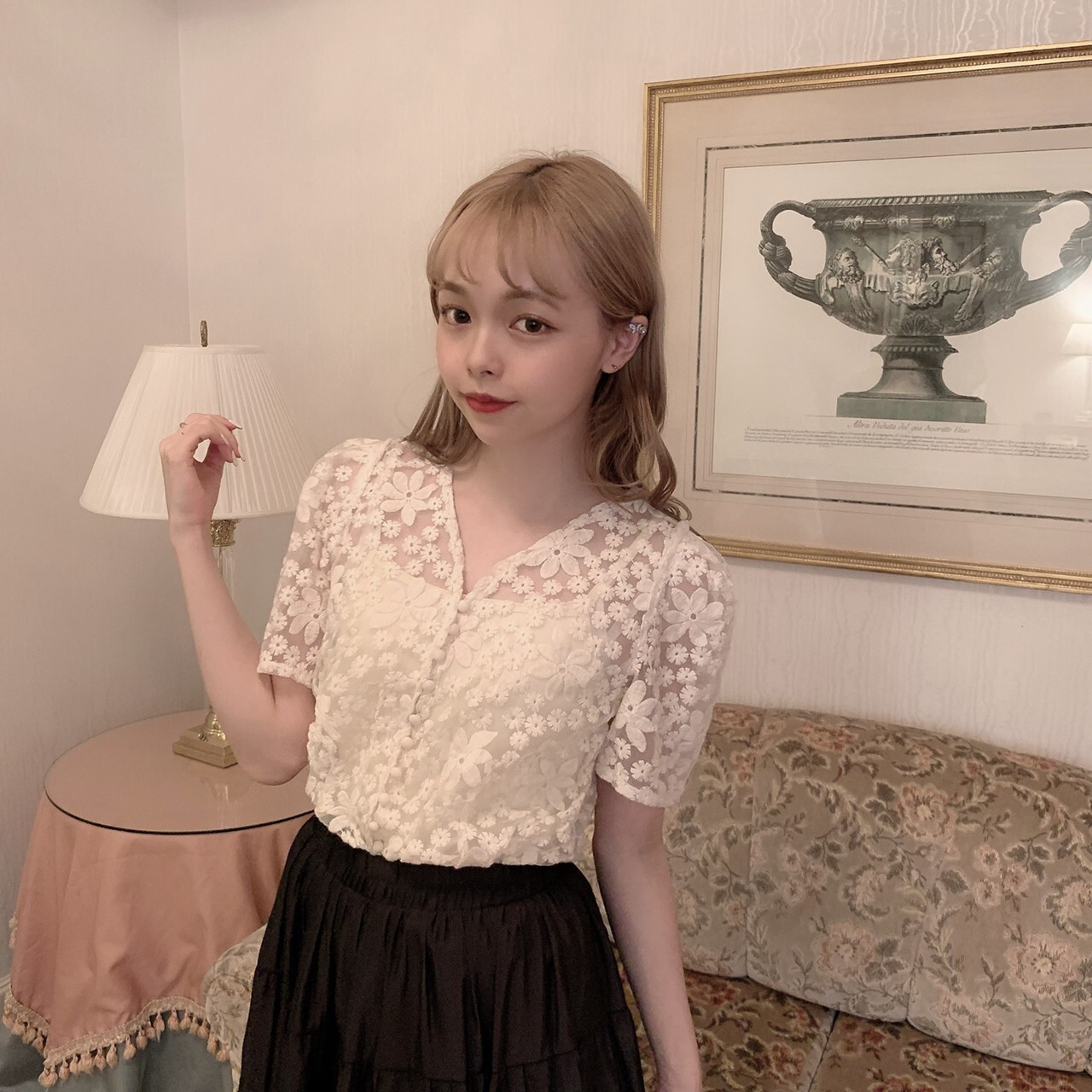 【meltie】dressy flower blouse