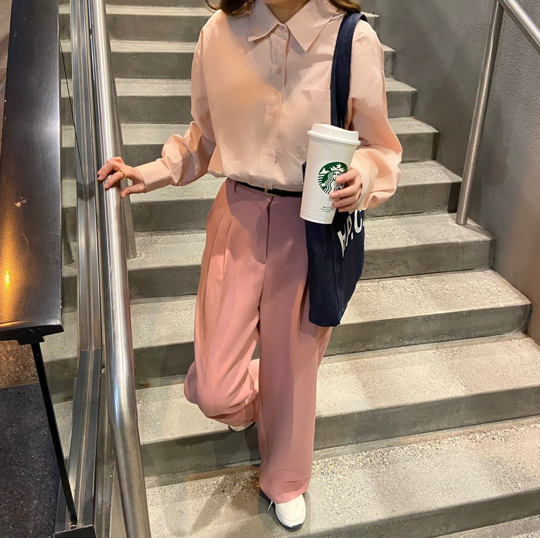 【LAST2】DAYNYC series shirt(pink)