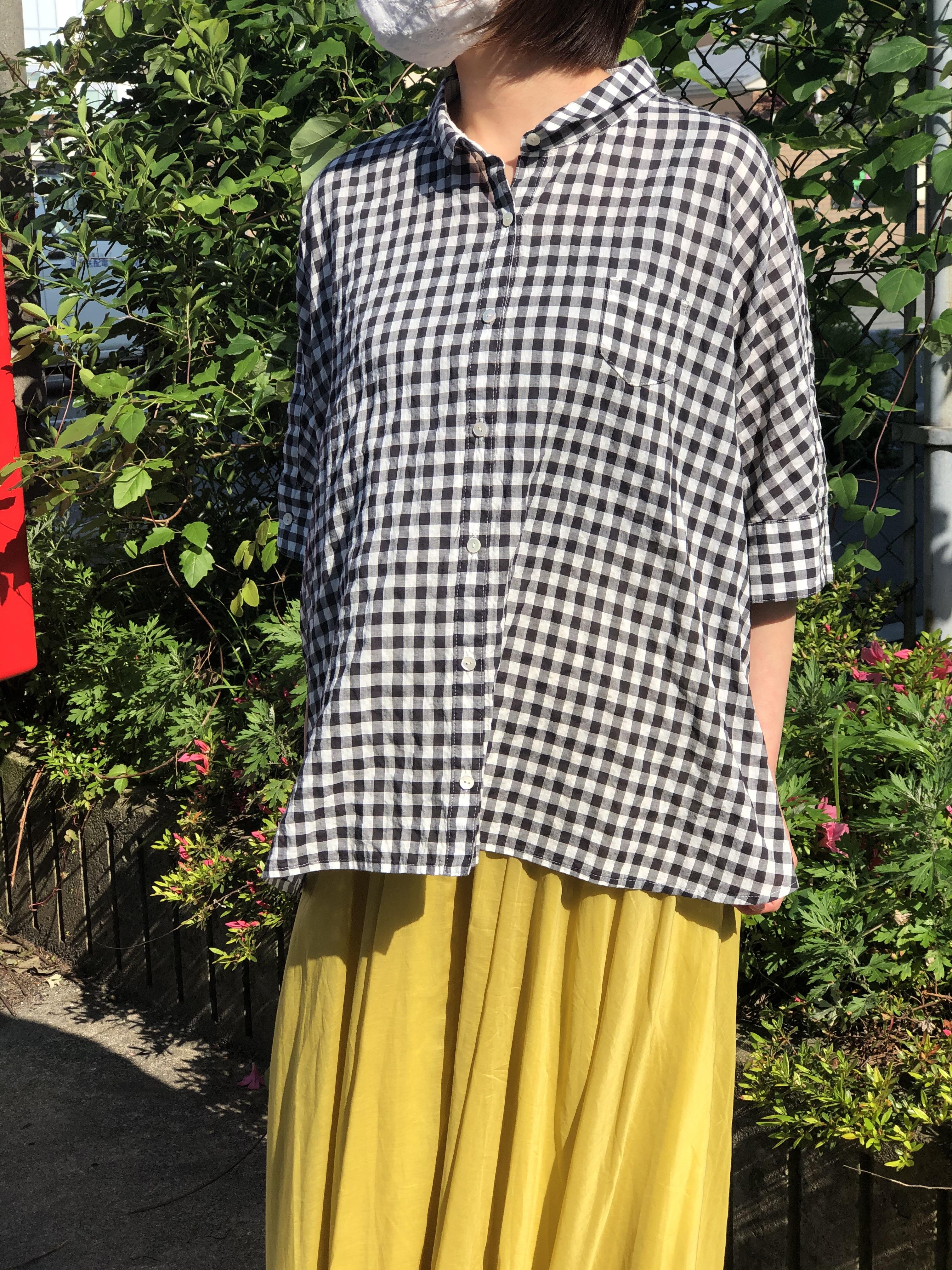 PASSIONE/127908/ギンガムチェック半袖シャツ