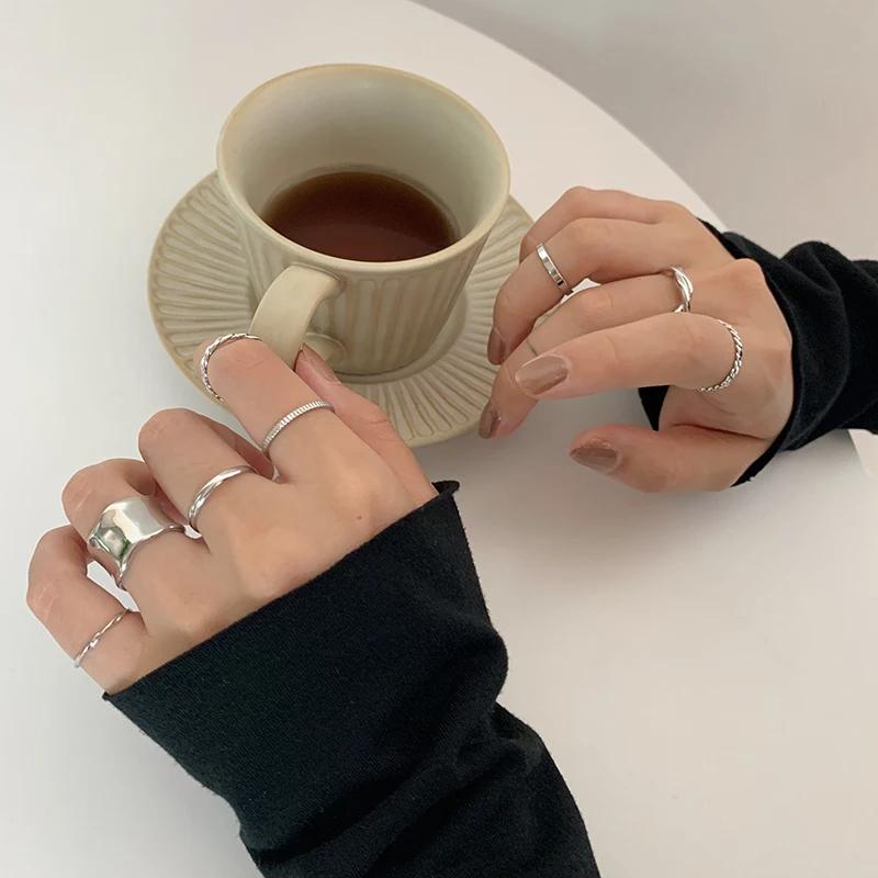 unique design ring 8SET(silver / gold)