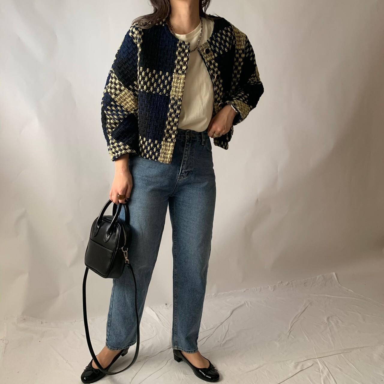 【asyu】tweed jacket