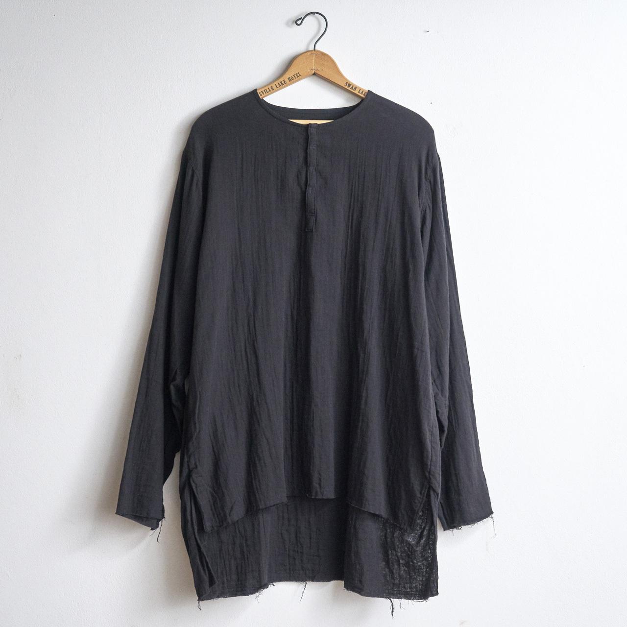 suzuki takayuki スズキタカユキ gauze shirt ガーゼシャツ black (メンズ)