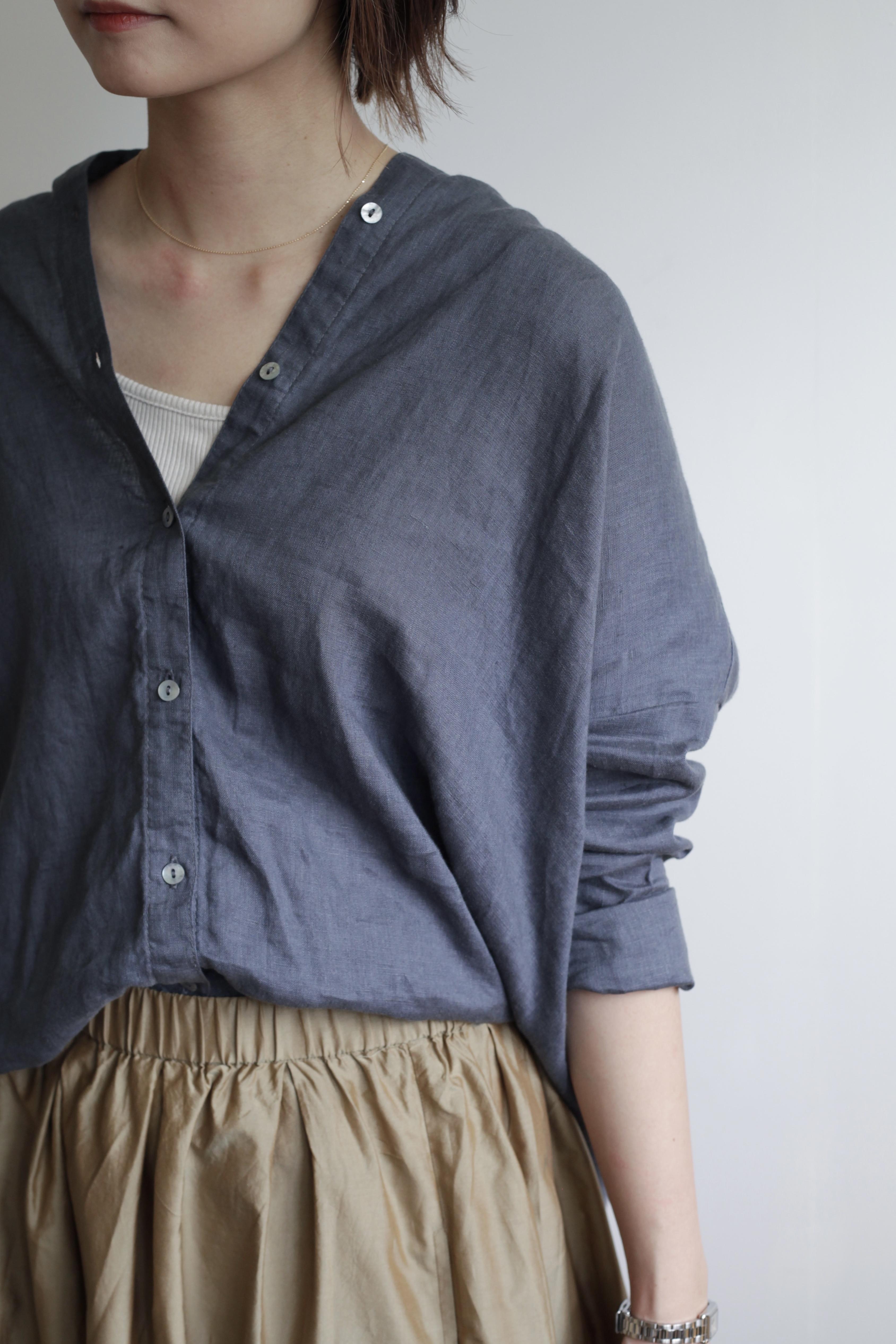【fog linen work × minka(フォグリネンワーク × ミンカ)】オーバーサイズ リネンシャツ  《 minka限定アイテム 》