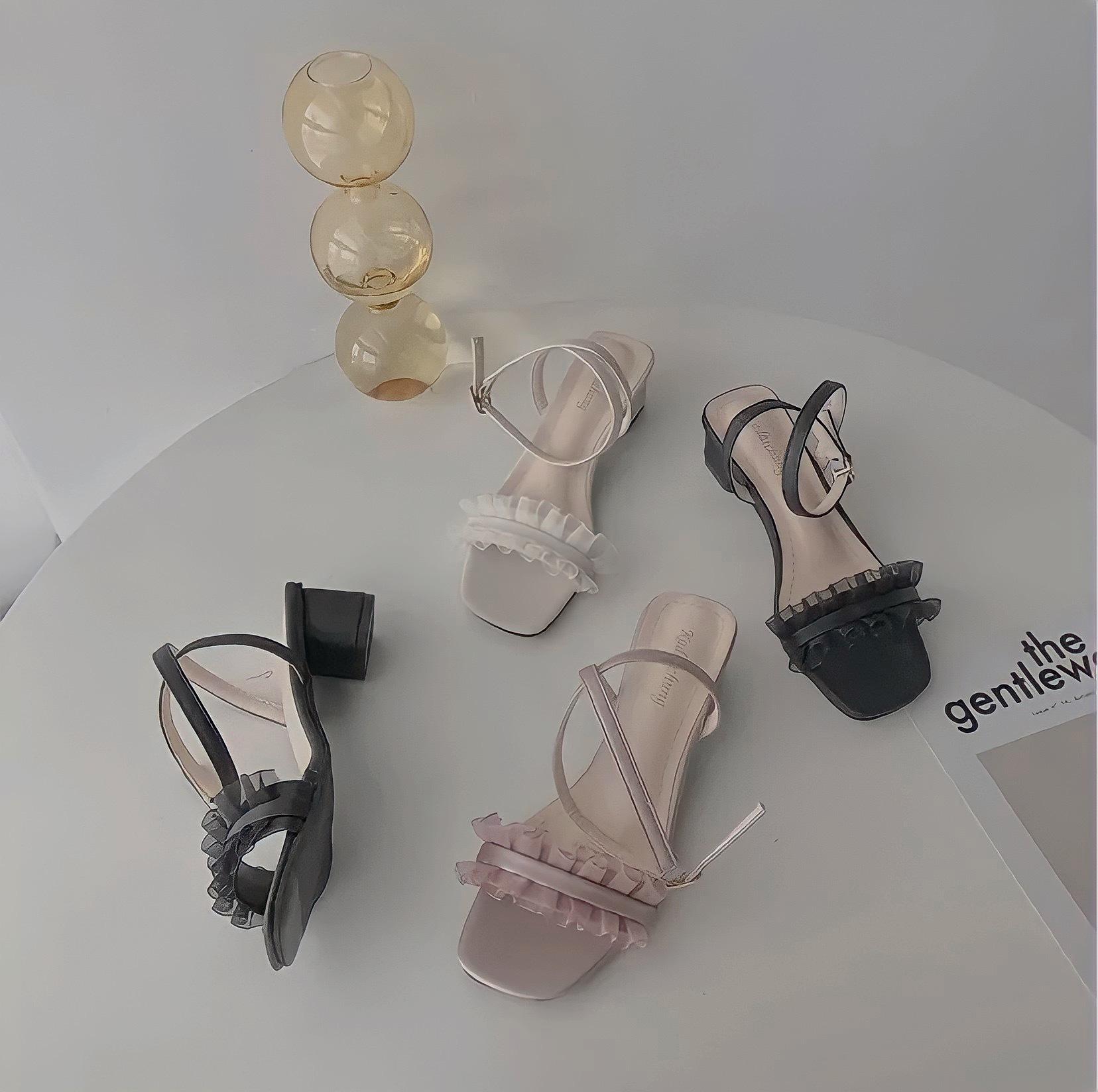 frill sandal 3color