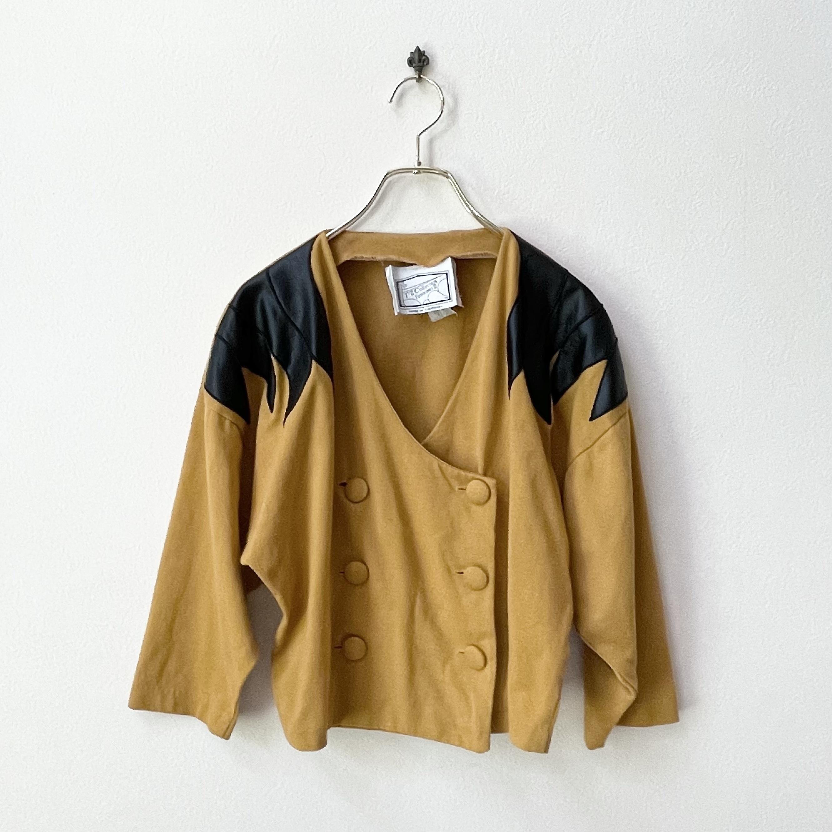 80年代  USA製 ヴィンテージ デザイン ショートジャケット 日本L