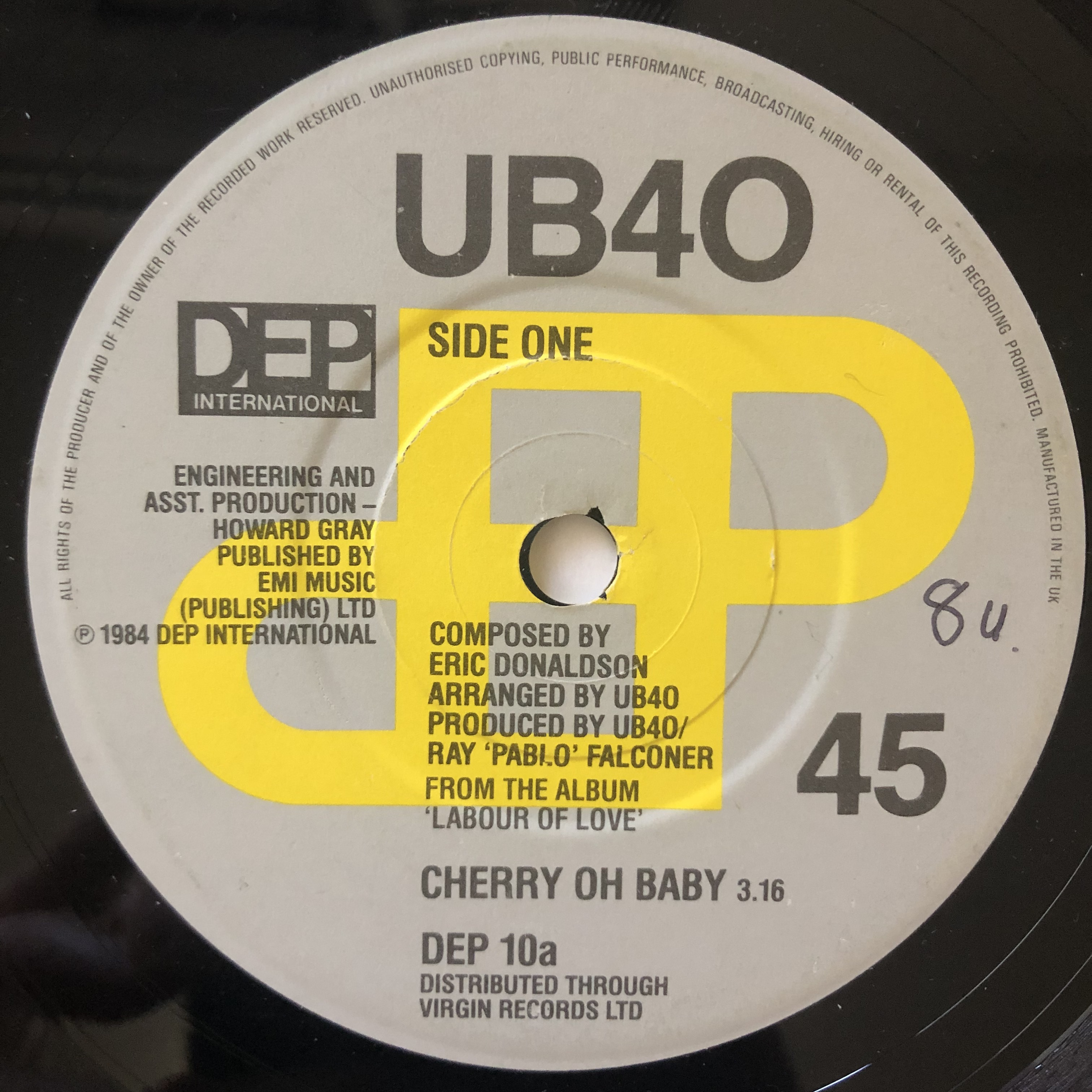UB40 - Cherry Oh Baby【7-20643】