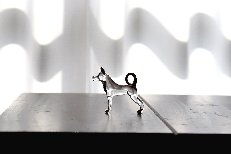 犬のガラス細工②