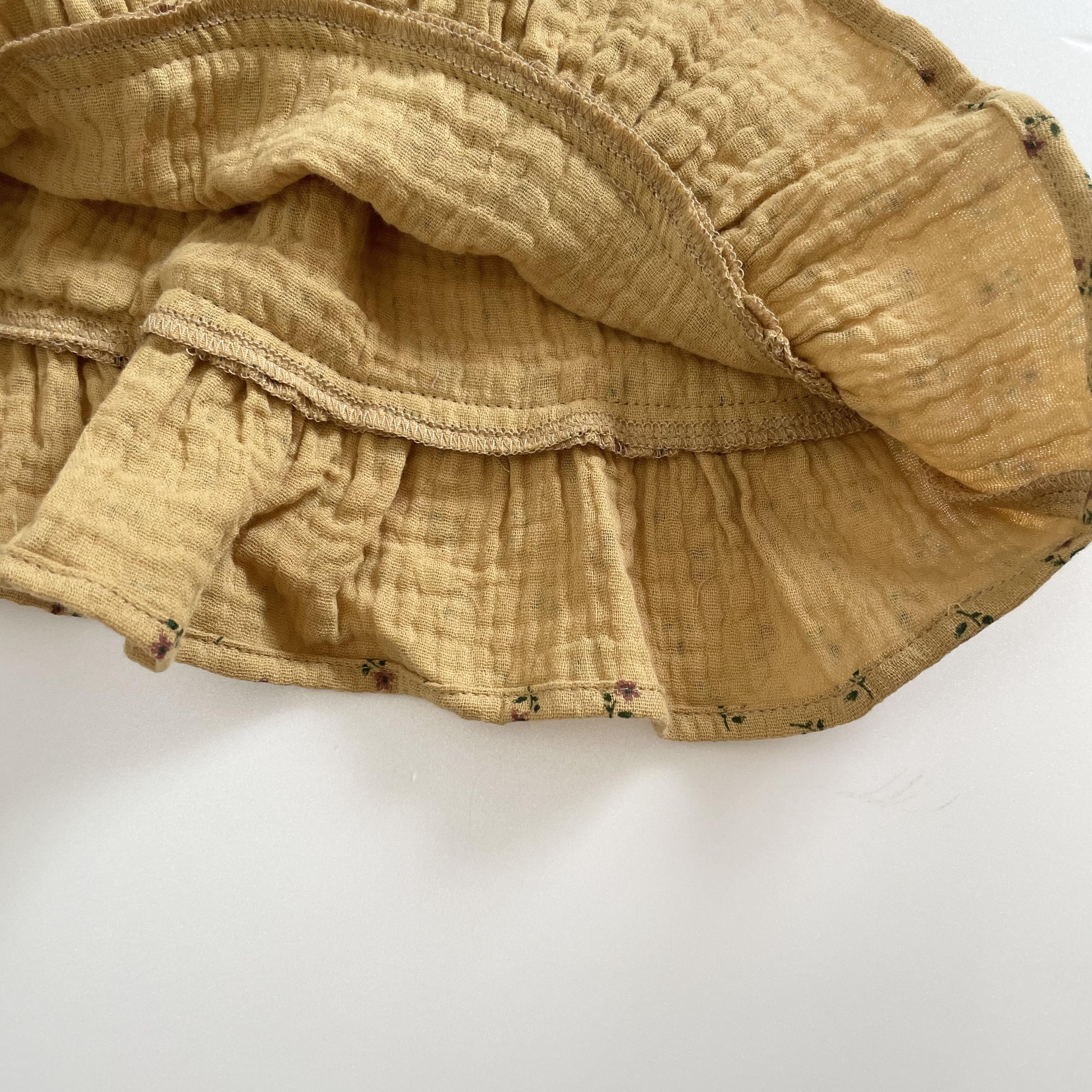 NO.1410. botanical frill skirt